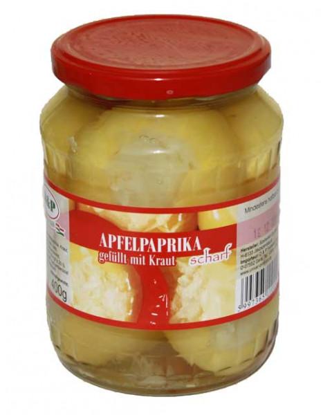 gefüllter Apfelpaprika scharf