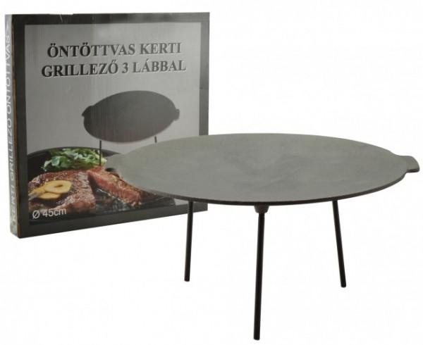 Gusseisene Grill Scheibe 45 cm   Öntöttvas grill tárcsa