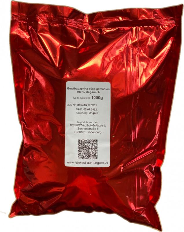 Ungarischer Paprika 1kg Eigenmarke unorn-direkt.de - mild
